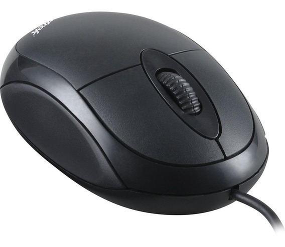 Mouse Optico Preto Com Fio Para Pc Notebook