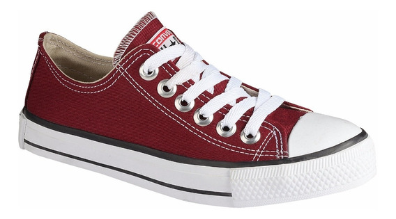 Tênis Converse All Star Chuck Ct Taylor Cano Baixo Bordô
