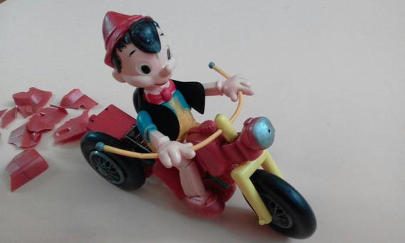 Atma Boneco Pinóquio Com Triciclo Anos 60/70 Restaurar £