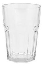Set 6 Vasos De Vidrio Grueso Resistente Facetado Durax Oslo Bebidas Vaso Trago Largo Alto Para Cerveza - 400 Ml Cuotas
