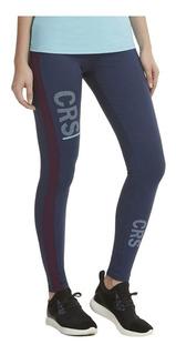Calça Legging Athletic Silk Reticulado Azul Marinho E Roxo A