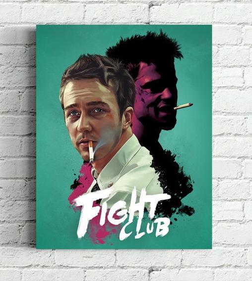 Poster Clube Da Luta Impressão Em Canvas