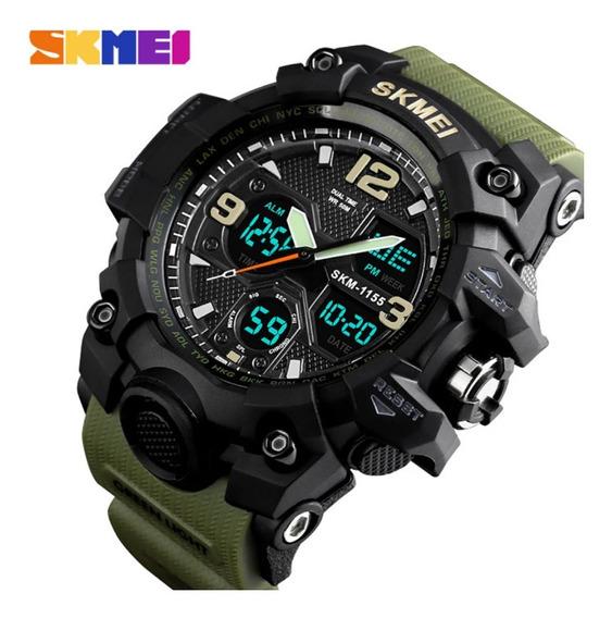 Relógio Esportivo Militar Skmei A Prova Dágua 50 Atm Verde .