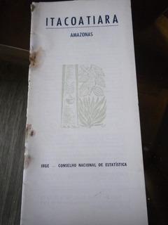 Monografia Antiga Ibge Cidade Itacoatiara Estado Amazonas