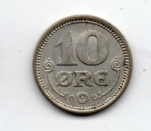 Dinamarca Moneda Plata 10 Ore 1916 Km#818.1 - Argentvs