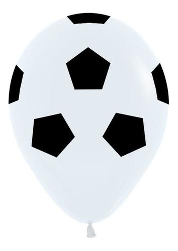 Bolsa Con 12 Globos Balón De Futbol Soccer 12 PuLG