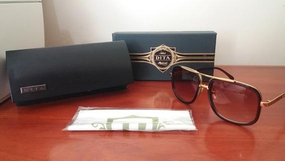 Óculos De Sol Dita Mach One Brown Novo Pronta Entrega