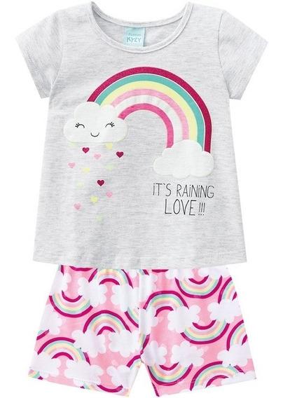 Pijama Kyly Para Bebê Menina Arco Iris