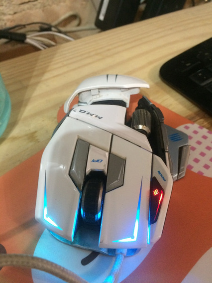 Mouse Mad Catz M.m.o.7 White True 6400 Dpi