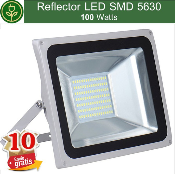 (10 Piezas) Reflector Led 100w Smd5730 Exteriores Mayoreo