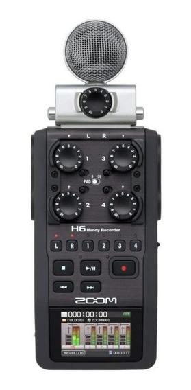 Gravador Digital Zoom H6 Handy Recorder - Com Cartão Sd 2gb