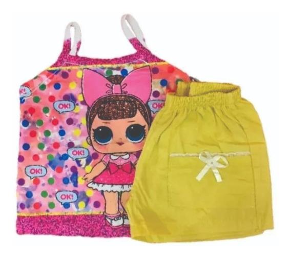 Kit Lote Roupa Infantil Atacado 10 Conj Short + Blusa C10