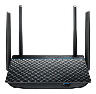 Router Asus Gigabit Inalámbrico De Banda Dual Negro Ac1300