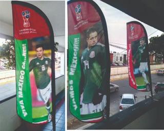 Banderas Publicitarias 1.5 Mts Kit Completo