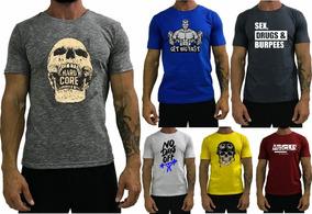 Kit 6 Camiseta Moda Masculina T-shirt Treino Academia Fitnes
