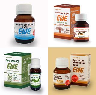 Pack De Aceites Ewe (ricino, Argán, Tea Tree Y Almendras)