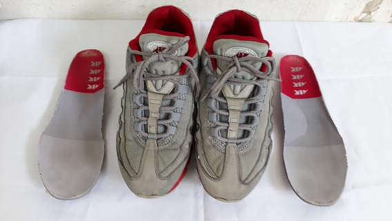 Tênis Nike Air Cinza E Vermelho N° 38 Cod 3001
