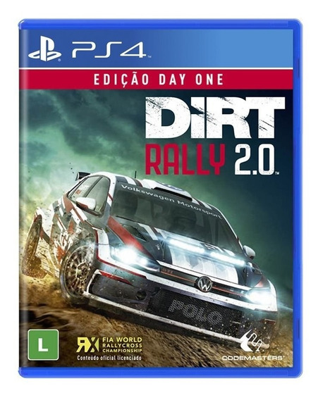 Jogo Midia Fisica Dirt Rally 2.0 Ediçao Day One Para Ps4