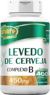 Levedo Levedura De Cerveja 450 Mg 400 Comprimidos Complexo B