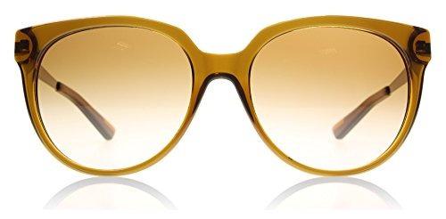 Dkny Mujer Mujer Plástico Gafas De Sol Redonda, Marrón / Ma