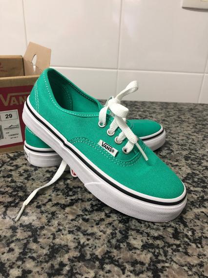 Van Authentic Kids Aqua Green/true White