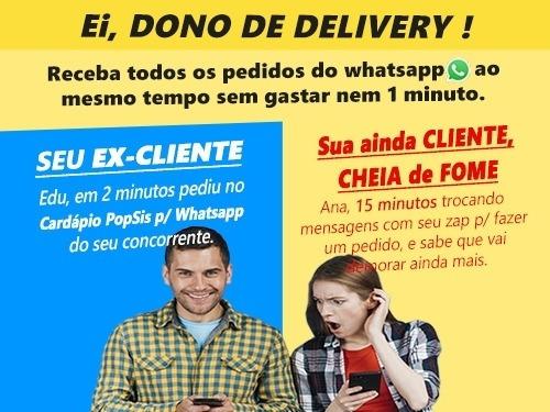Cardápio P Whatsapp Sistema Delivery Aplicativo Android Ios