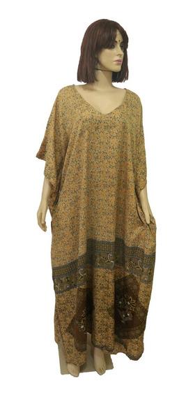 Vestido 2 Formas De Usar Kaftan Indiano Vestido Longo Festa