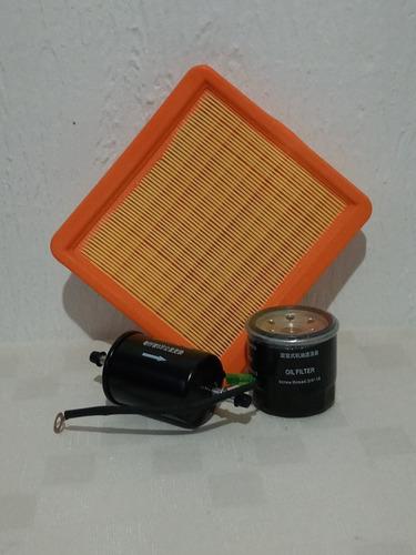 Kit De Filtros Gasolina, Aceite Y Aire Chery Qq3 Original