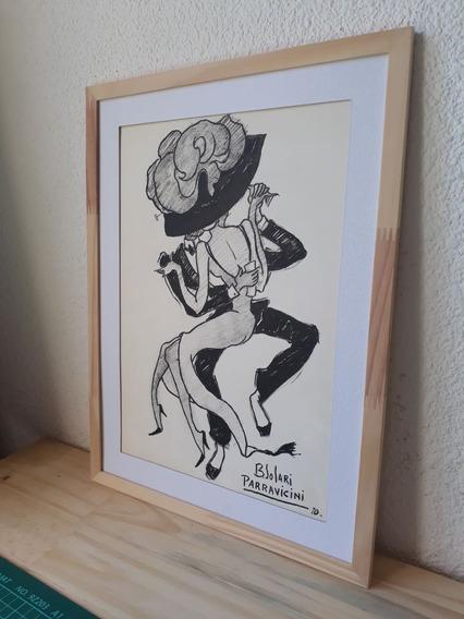 Solari Parravicini,serie Dibujos Tinta Del Tango. Originales