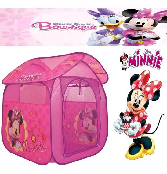 Barraca Casa Toquinha Infantil Minnie Menina Rosa Dobrável