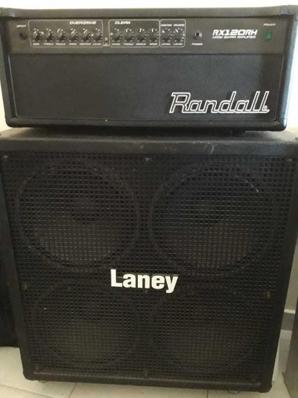 Cabezal Randall 120 Rh + Caja Laney 4 X 12 Recta Con Ruedas