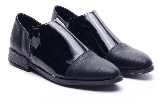 Zapatos Mujer Charol Bajos Mocasin Botas Otoño Invierno Heben Calzados