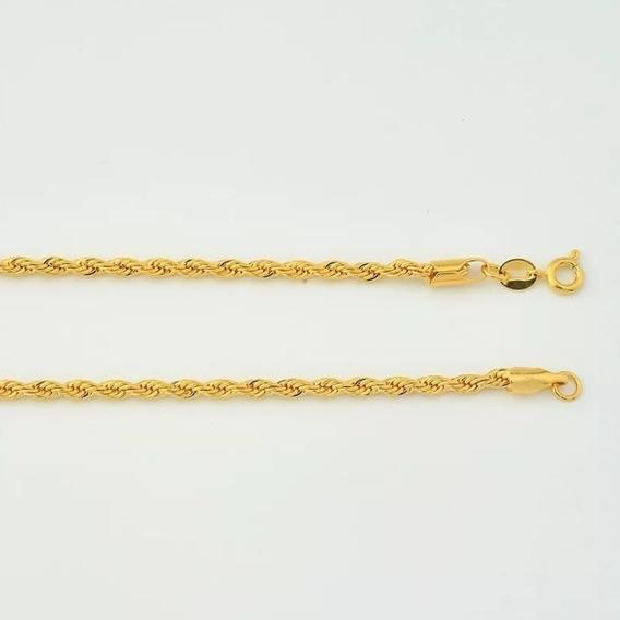 Corrente Cordão Baiano Folheado Ouro 18k 80cm