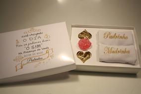 Casamento Convite Padrinhos O Sim Com 2 Toalhas 4 Unid