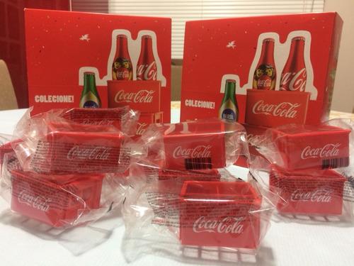 Mini Engradados Da Coca Cola  Novo Dentro Embalagem Lacrada