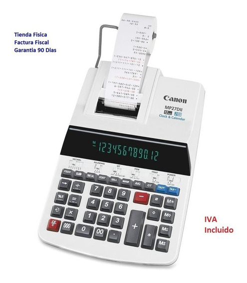 Calculadora Canon Mp27dii 12-digitos 2-colores *nueva*