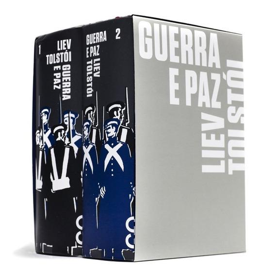 Guerra E Paz Box 2 Volumes Livro Liev Tolstói Capa Dura***