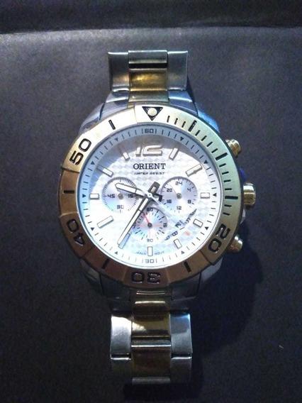 Relógio Orient Analógico Cor Prata E Dourado