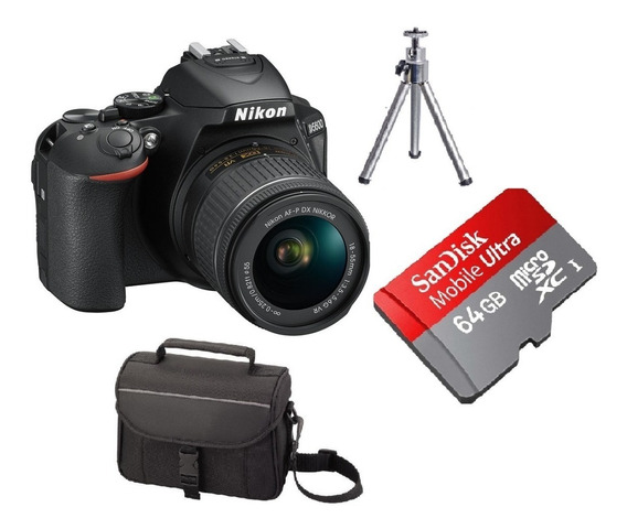 Camera Nikon D5600 Kit Lente 18-55mm + 64gb C/10+bolsa+tripé