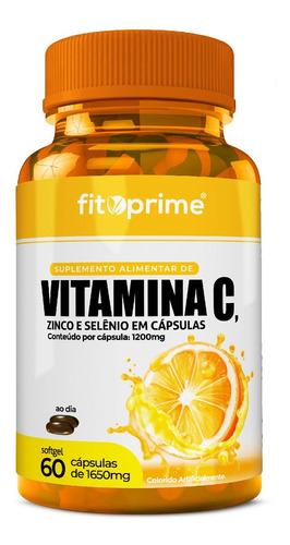Imagem 1 de 2 de Vitamina C 1000mg + Zinco E Selênio 60 Cápsulas Fitoprime