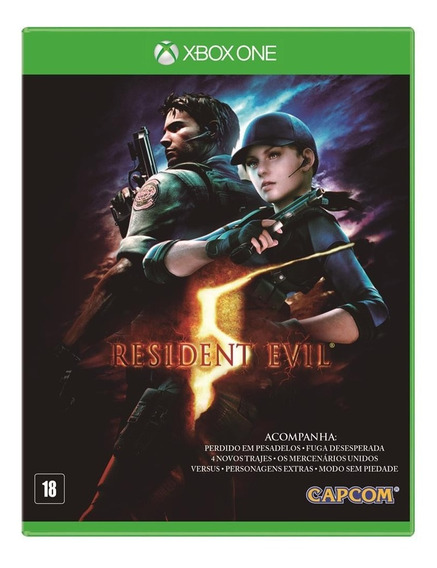 Resident Evil 5 - Xbox One Midia Fisica - Com Todas As Dlcs
