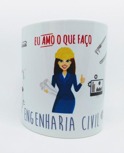 Caneca Personalizada Profissão Engenharia Civil - Engenheira
