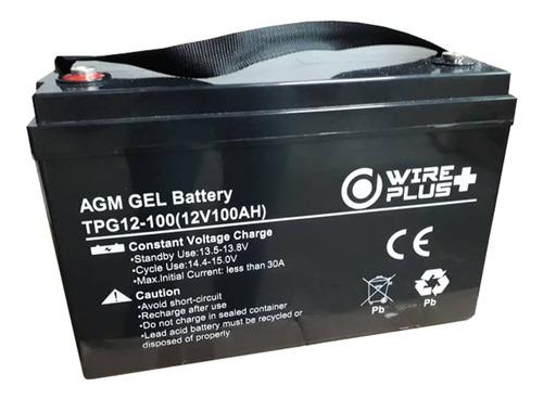 Bateria 12v 100ah Agm Gel Ciclo Profundo Wireplus
