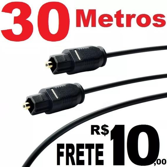 Cabo De Fibra Ótico Óptico Digital Áudio Toslink 30 Metros Para Som Tv Home (frete R$10) Leia O Anuncio
