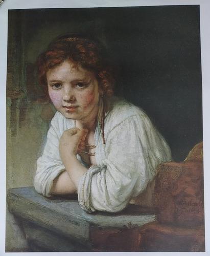 Imagen 1 de 1 de Reproducción De Rembrandt Van Rijn  Girl At Window