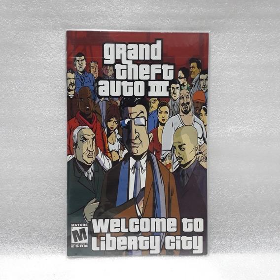 Manual Do Jogo Gta 3 Ps2 Grand Theft Auto Original Raro!!!