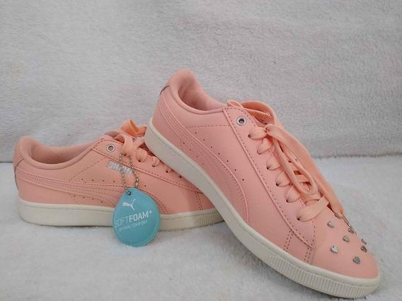 Oferta Tenis Puma Platform Vikky Peach Bud-silver Original