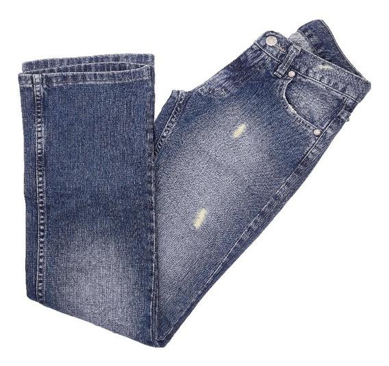 Pantalon Jeans Semi Oxford Mujer Moda Cuesta Blanca Pa1111a
