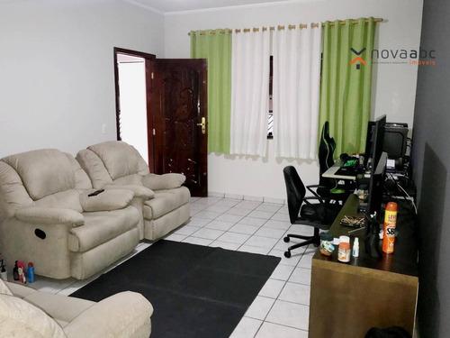 Imagem 1 de 18 de Sobrado Com 3 Dormitórios À Venda, 210 M² Por R$ 700.000,00 - Parque Novo Oratório - Santo André/sp - So0946