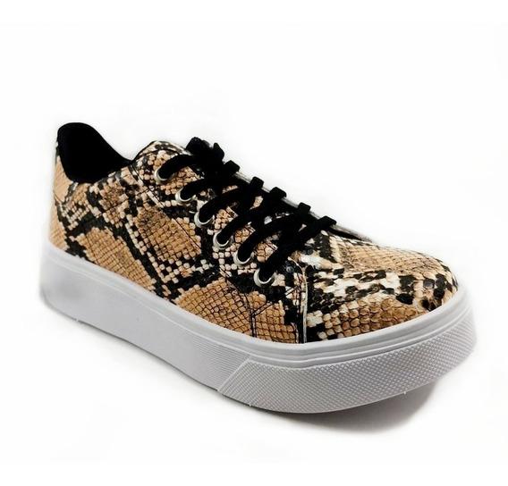 Zapatilla Sneaker Mujer Urbana Reptil 799/1moda Verano2020